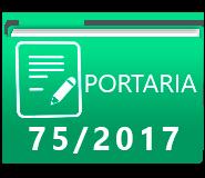 PORTARIA 75-2017